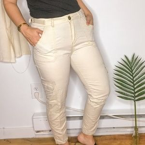 Cotton On Beige Khaki High Rise Skinny Cargo Pants